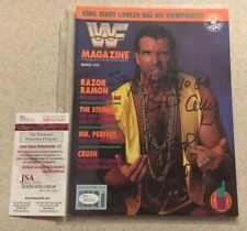 Wwf Magazine March 1993 Razor Ramon Signed Autograph Auto Nwo Scott Hall Wwe Jsa