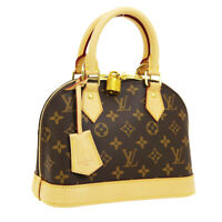 LOUIS VUITTON ALMA BB 2WAY HAND BAG FL3108 PURSE MONOGRAM M53152 NR14030k