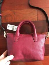 Cross body Bag Leather Barney New York New Burgundy Red $200