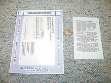 Microscale decals N 60-636 Union Pacific Heavyweight passenger special   H105
