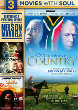 3 movie Nelson Mandela Tribute NEW DVD (Cry,The Beloved Country,Sarafina,Endgame