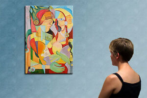 """39"""" -FOLLOW YOUR HEART___ORIGINAL PAINTING by COSMIN !!"""