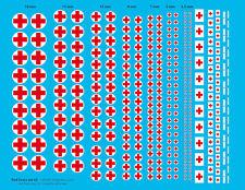 """[FFSMC Productions] Decals """"Croix Rouge"""" set n°2 (1/32, 1/35, 1/48, 1/43, 1/72)"""