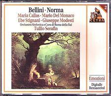 BELLINI NORMA: Maria CALLAS Mario Del MONACO SERAFIN 1955 2CD Stignani Modesti