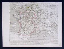 1841 Houze Map - France of Charles VII 1422-1461 Europe
