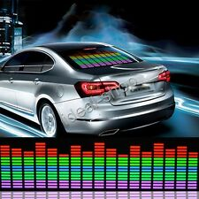 90x10cm Car Sticker Music Rhythm LED Flash Light Lamp Sound Activated Equalizer