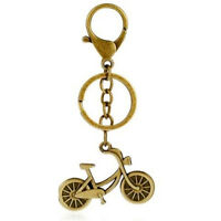 Vintage Retro Keyring Copper Bicycle Buckle Pendant Keychain Key Chain Ring ♫