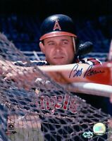 Bob Boone Signed 8X10 Photo Autograph Angels On Batting Cage w/COA Auto