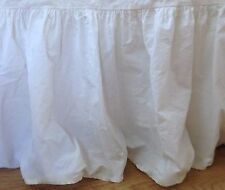 """Shabby Cottage Chic Dust Ruffle Bedskirt~WHITE~Twin~21"""" Drop"""