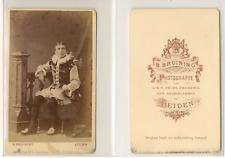 Bruining, Leiden, jeune hollandais en costume Vintage CDV albumen carte de visit