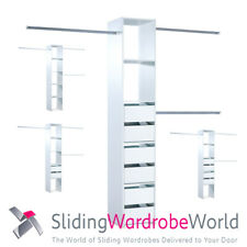 Wardrobe Interior Storage with (or without) drawers for Sliding Wardrobe Doors
