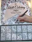 Adult Coloring Book Relax/Stress Book Forest NEW