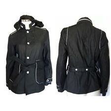 G-Star GS RAW Denim Trench Jacket Women's Cotton Hooded Black White Size M