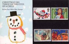 GB 1981 Navidad presentación Pack 130 SG 1170-1174 sello de menta SET # 130
