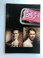 "movie souvenir program ""Fight Club"" Edward Norton,Brad Pitt,Helena Bonham Carter"