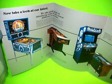 Williams TIME FANTASY Joust 1983 Original NOS Pinball Machine Arcade Game Flyer
