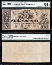 Amazing VCH/UNC $5 Canal & Banking New Orleans, LA Obsolete! PMG 64 EPQ! TC41