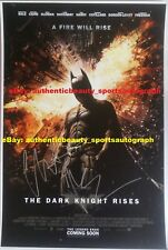 THE DARK KNIGHT RISES SIGNED CHRISTIAN BALE BATMAN DC MOVIE POSTER 12x18 REPRINT