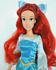 Disney Store Princess Little Mermaid Ariel Doll, in Blue Dress & Hair Bow