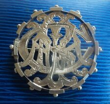 Victorian EARLY Sterling Silver PUZZLE Name Brooch h/m 1880 Birmingham  -  CARLA