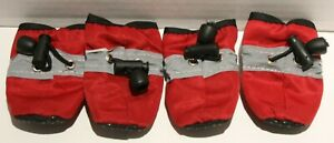 Reflective Drawstring Dog Booties Shoes Paw Protection for TINY BREEDS
