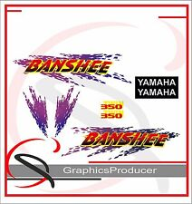 Yamaha Banshee Decals 1996 Reproduction Blue And Purple Full Set Custom Design
