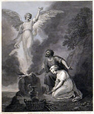 MANOAH'S SACRIFICE 1792 Francesco Bartolozzi - William Hamilton ANTIQUE ETCHING