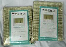 "Waverly Grantham Plaid Celery Straight Balance 52"" x 18"" Set of 2 Green New"