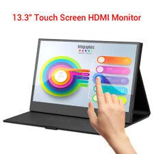 """Eyoyo Écran tactile 13,3""""IPS HDMI Moniteur pour second ordinateur portable USB-C"""