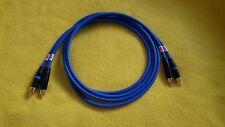 Mogami 2549 Audiophile Interconnect Cable Neutrik NYS373-6 RCA Plugs Blue 3 ft
