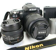 Nikon D90 12.3MP Digital SLR Camera w/ AF-S DX 18-55mm lens AND AF 50mm lens