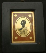 Verre Eglomise Miniature Portrait of a Lady 19th C.