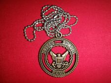 "Seal Of The United States NAVY Insignia ""Navy Opportunities"" + Ball Chain"