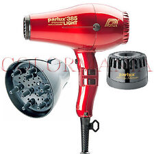 PARLUX 385 POWERLIGHT ROSSO PHON PARRUCCHIERE + DIFFUSORE + SILENZIATORE MELODY