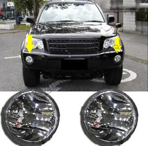 For Toyota HIGHLANDER KLUGER 2001-2003 Front Bumper Convex Lens Fog Light Lamp