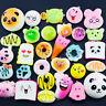 10Pcs Jumbo Medium Soft Mini Squishy Bread/Panda/Cake/Buns Phone Straps Random