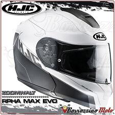 CASQUE MODULAIRE HJC RPHA MAX EVO ZOOMWALT MC10SF CARBONE MATTE NOIRE-BLANC S