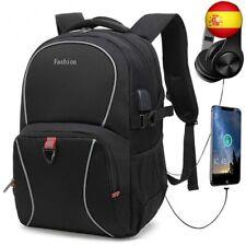 Mochila para portátil, mochila escolar con puerto de carga USB y puerto para