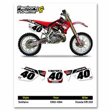 1992-1994 HONDA CR 250 SOLITAIRE Dirt Bike Custom Number Plate GRAPHICS DECAL