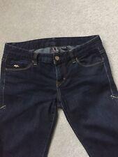 ARMANI EXCHANGE Ladies Dark Blue J11 Jeans Size 8 Good Condition