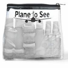 MIAMICA BLACK PLANE TO SEE TSA CARRY ON TRAVEL SIZE TOILETRIES BOTTLES BAG CASE