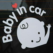 """Baby In Car"" Baby on Board Safety Sign Back Car Rear Window Decal Sticker"
