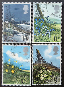 GREAT BRITAIN #855-858 used 1979 wildflowers set. We combine shipping