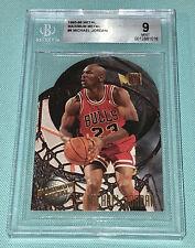 Michael Jordan 1995-1996 Fleer Metal Maximum Metal BGS 9 MINT Bulls HOF