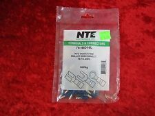 Lot 250 NTE 16-14 AWG Male PVC Insulated Bullet Disconnect Terminals Connectors