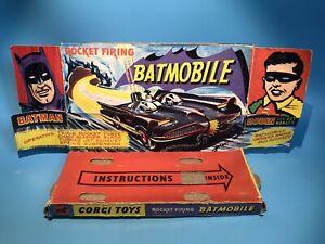 CORGI TOYS 267 BATMAN BATMOBILE CAR ORIGINAL INNER DISPLAY TRAY VERY GOOD RARE