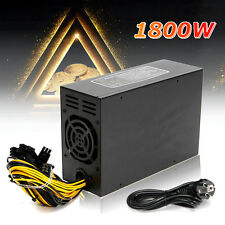 1800W Miner Machine Power Supply For 6 GPU ETH BTC Ethereum Antminer S7 S9 T9