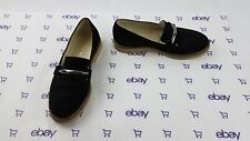 Women's Skylar Blake Suede Leather Black Loafers Flats Slides Sz 36 EUR Italy