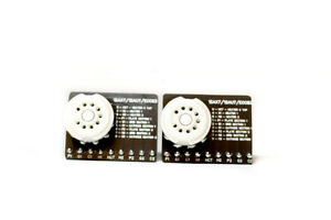 2 Tube Socket PCB 12AX7 / 12AU7 / 12AT7 / ECC83 Vacuum Tube Breadboard Circuit