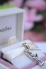 New! Authentic Pandora Statue of Liberty, Love New York Dangle Charm 791077